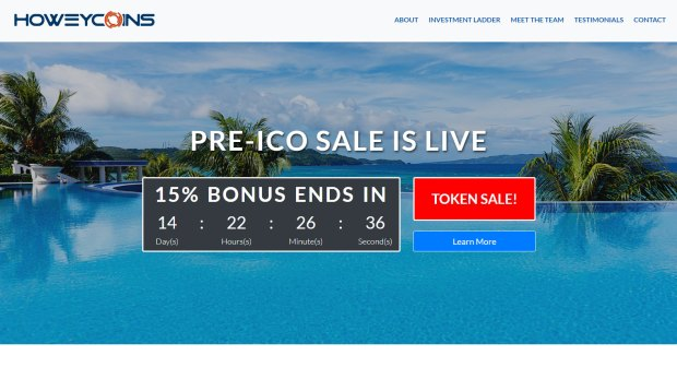 "HoweyCoins was a fake ICO set up by the U.S. Securities & Exchange Commission to show potential investors how easy it is to get duped. Click a button to ""Buy Coins Now"" to be taken to the investor education site and see all the red flags of the fake ICO."