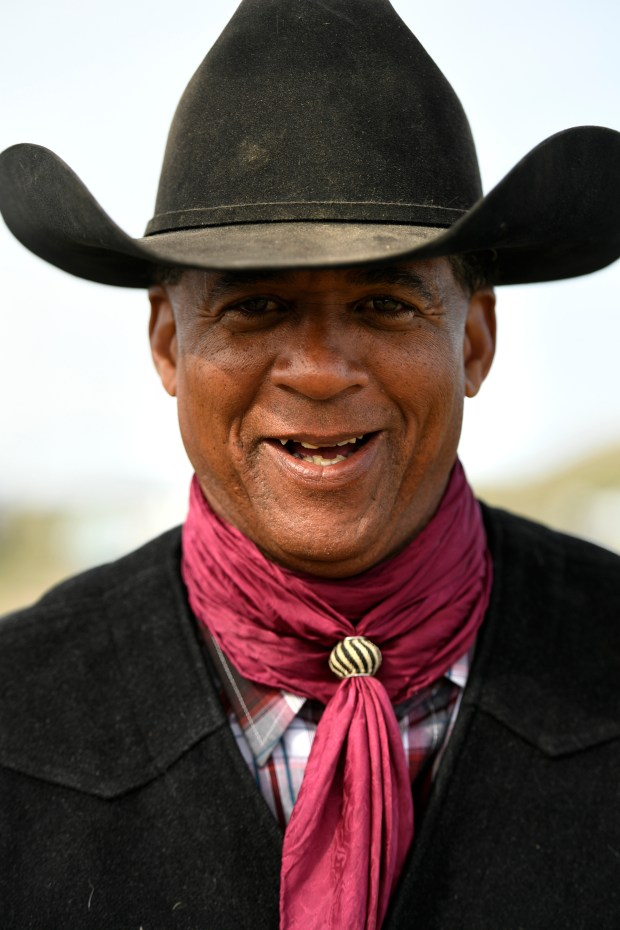 Cowboy Donald Broom poses for a ...