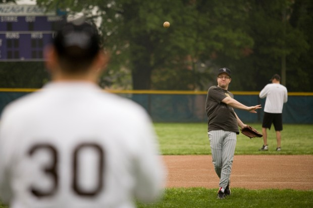 U.S. Rep. Jared Polis practices with other Democratic members ahead of the annual congressional charity baseball game against Republicans.