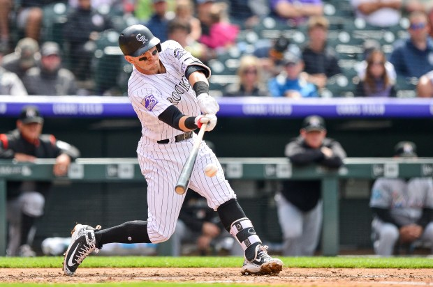Trevor Story #27 of the Colorado ...