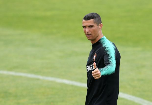 Portugal's forward Cristiano Ronaldo gestures during ...