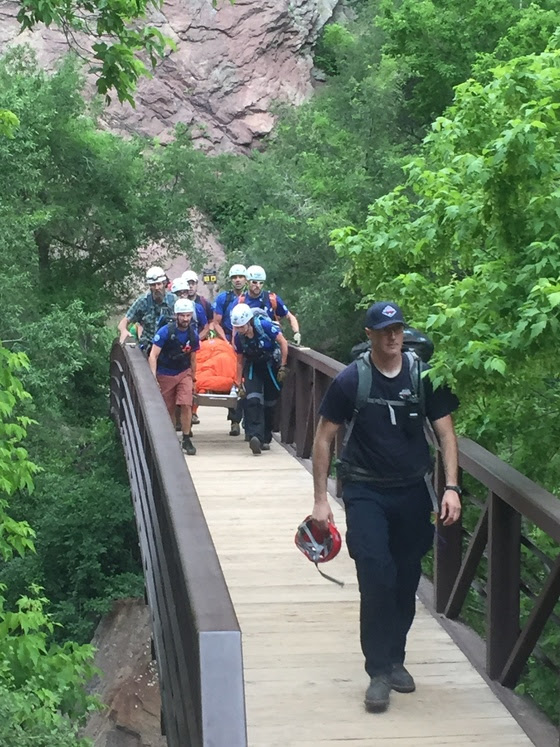 Climber injured in fall at Eldorado Canyon State Park.