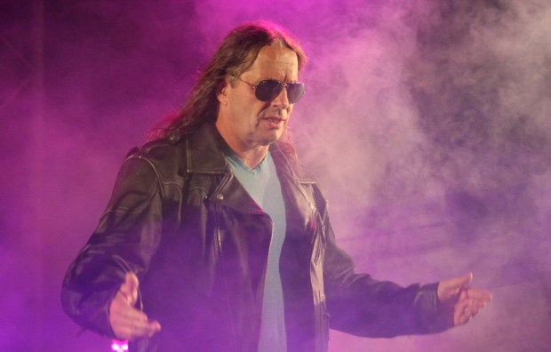"""Special guest referee Bret """"The Hitman"""" ..."""