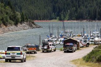 Law enforcement took to Ruedi Reservoir on Saturday after two people reportedly drowned near the Yacht Club.