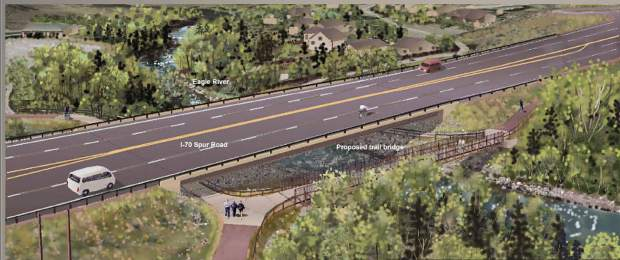 The new bridge over the Eagle River at Edwards will feature a single span and a new bike/pedestrian path.