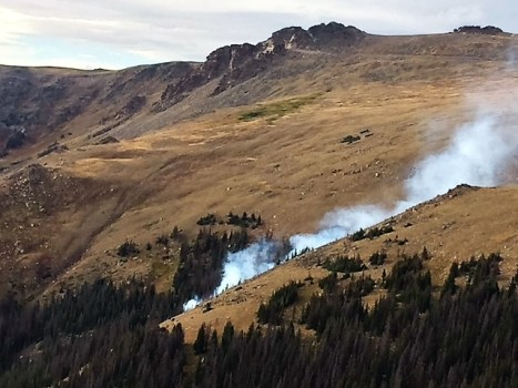two wildfires burning in