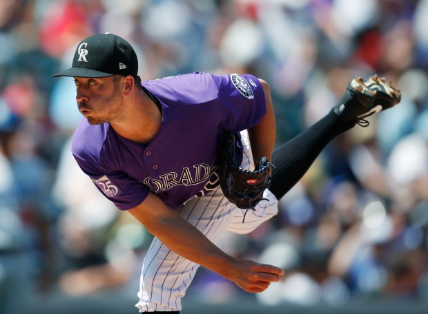 Colorado Rockies starting pitcher Chad Bettis ...