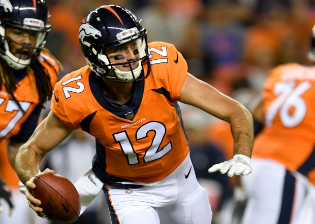 Denver Broncos quarterback Paxton Lynch gets ...