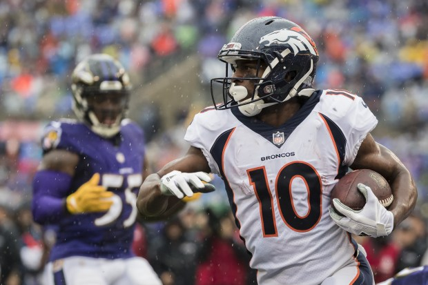 Emmanuel Sanders #10 of the Denver ...