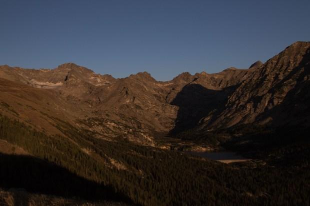 The Arapaho glacier (far left) and ...
