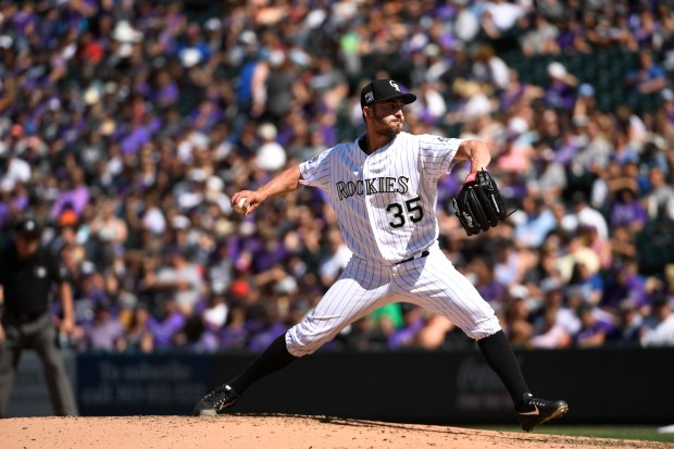Pitcher Chad Bettis #35, pitches during ...