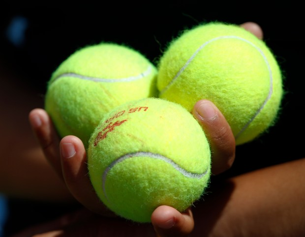 Tennis ball are held during ...