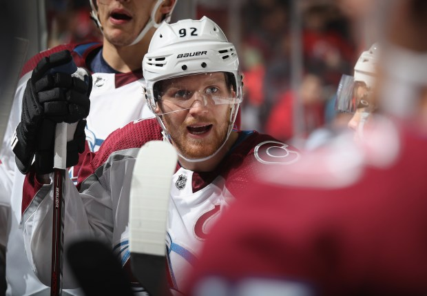 Gabriel Landeskog #92 of the Colorado ...