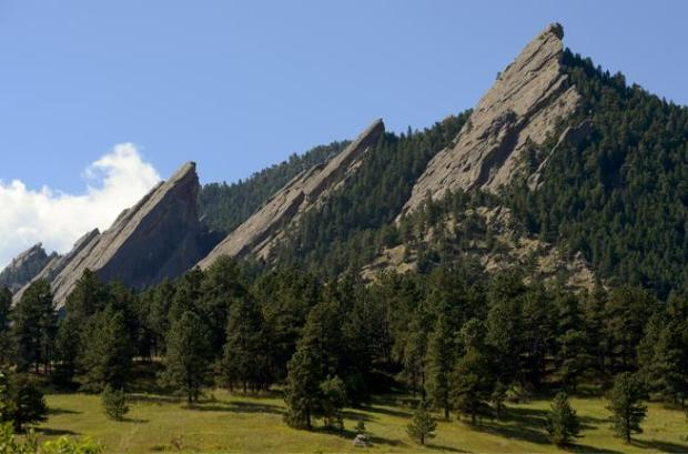 The First Flatiron at Boulder's Chautauqua Park was the site of a rescue of two University of Colorado students on Friday evening,