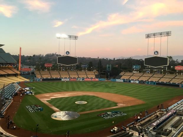 Dodger Stadium viewed on Thursday, Oct., ...