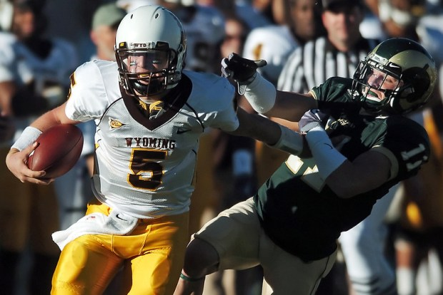 University of Wyoming quarterback Austyn Carta ...