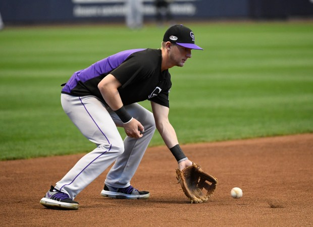 Colorado Rockies third baseman Ryan McMahon ...
