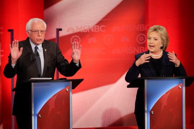 Democratic presidential candidate, Sen. Bernie Sanders, ...