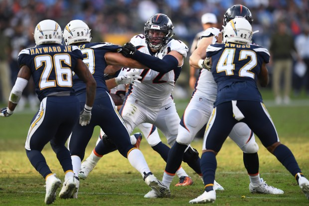 Offensive tackle Garett Bolles #72 of ...