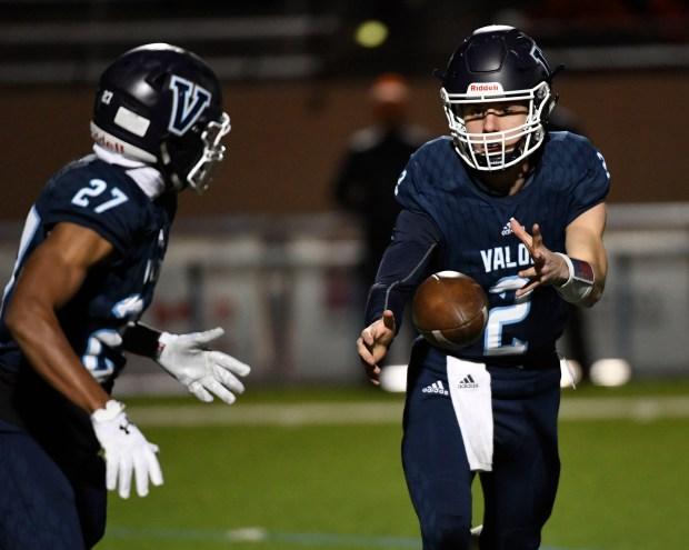 Valor Christian quarterback Luke McCaffrey (2) ...