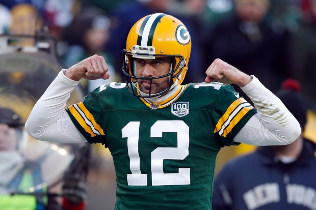 Green Bay Packers quarterback Aaron Rodgers ...