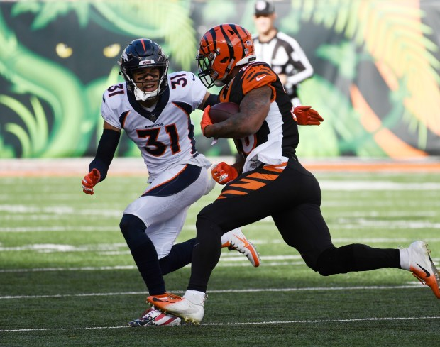 Denver Broncos free safety Justin Simmons ...