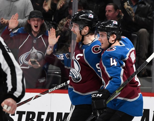 Colorado Avalanche left wing Gabriel Landeskog ...