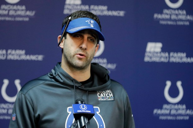 Indianapolis Colts offensive coordinator Nick Sirianni ...