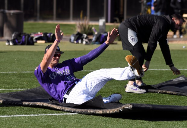 Colorado Rockies right fielder Sam Hilliard ...