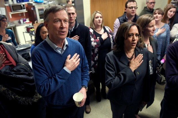 Former Colorado Governor John Hickenlooper, and ...