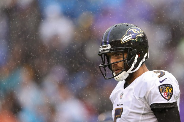 Quarterback Joe Flacco #5 of the ...