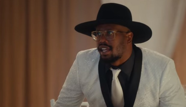 """Von Miller in the NFL's """"100 Year Game"""" commercial that aired during Super Bowl LIII."""