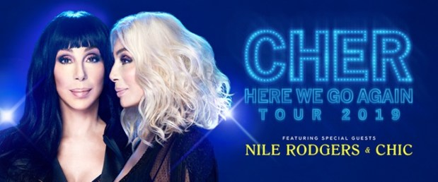 """Cher announced on Friday that she will bring her """"Here We Go Again"""" tour to Denver's Pepsi Center on Nov. 25, 2019."""