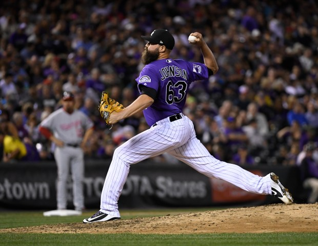 Colorado Rockies relief pitcher DJ Johnson ...