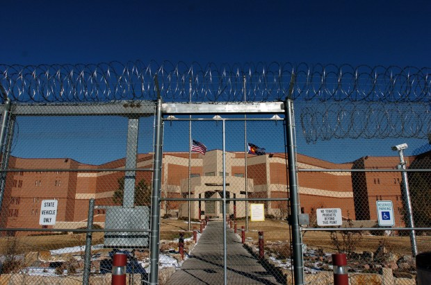 A view of the outside of the maximum security Colorado state penitentiary in Canon City, Colo.