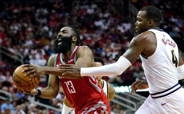 Houston Rockets' James Harden (13) is ...