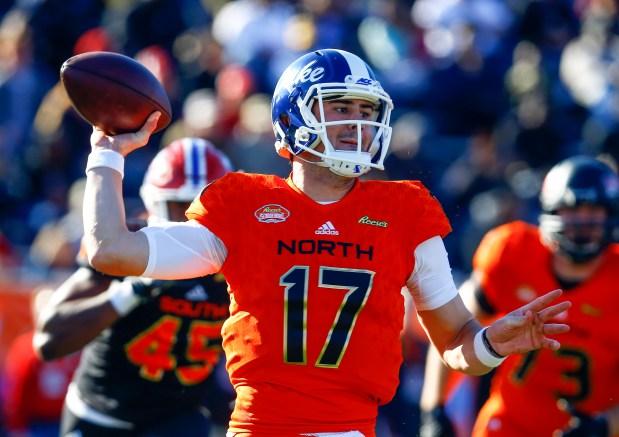 North quarterback Daniel Jones, of Duke, ...