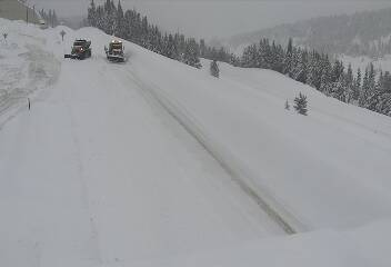 Avalanche on Vail Pass on I-70