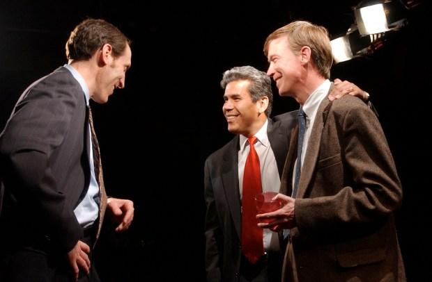 Denver mayor candidates Don Mares (center) ...