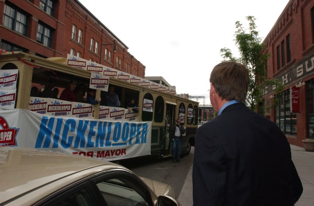Mayoral candidate John Hickenlooper starts the ...