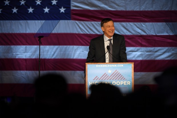 Former Colorado Governor John Hickenlooper kicks ...