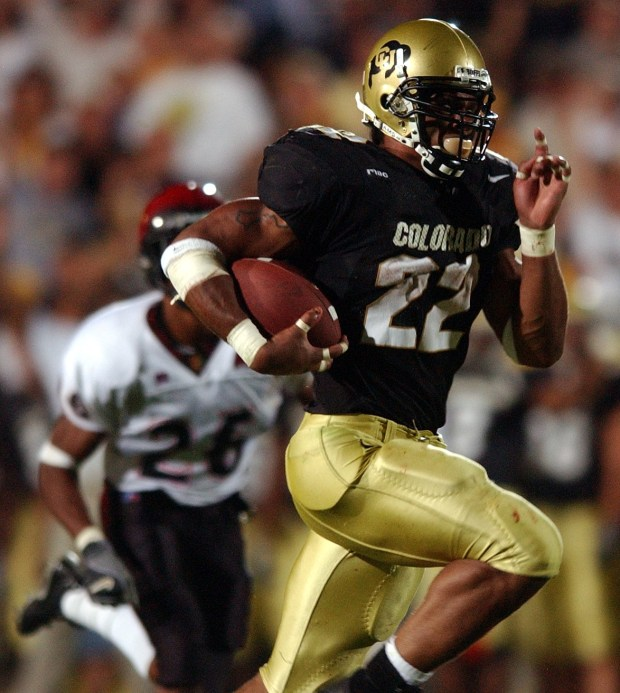 Colorado University running back Chris Brown, ...