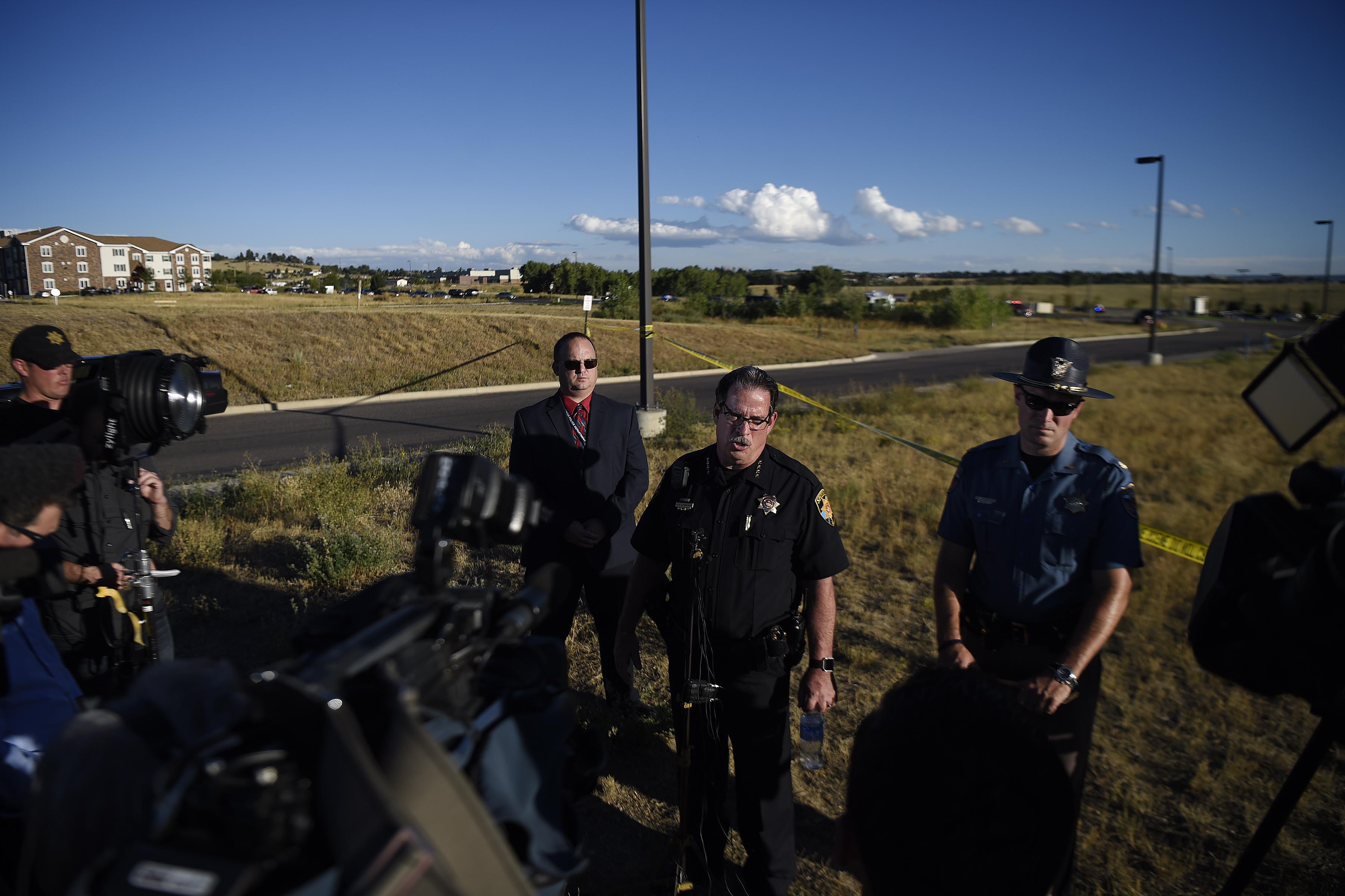 Douglas County sheriff Tony Spurlock speaks ...