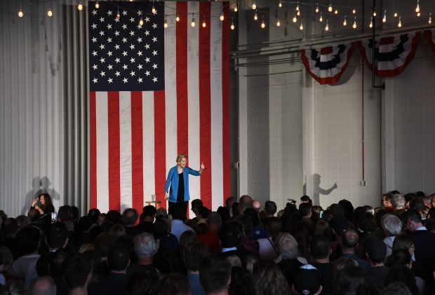 Democratic Presidential candidate Elizabeth Warren holds ...