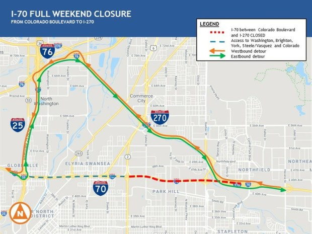 First weekend closure of I-70 through Denver set as project nears 20 percent completion