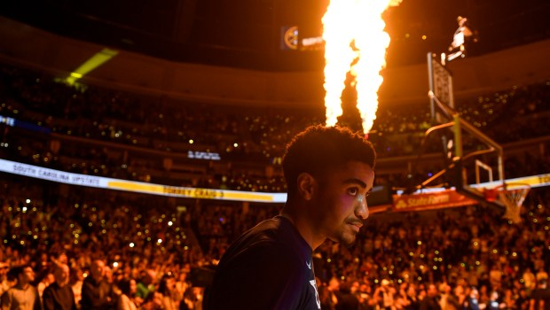 Gary Harris (14) of the Denver ...