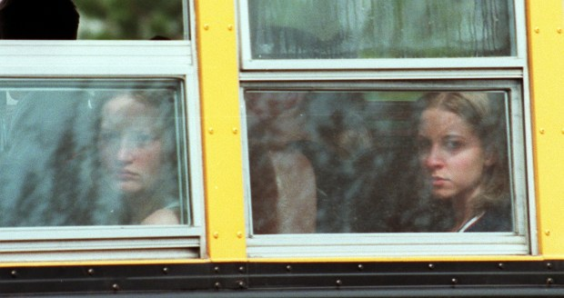 Students are bused away from Columbine ...