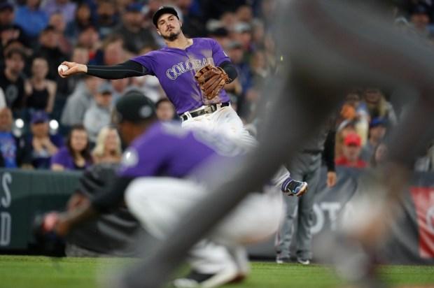 Colorado Rockies third baseman Nolan Arenado, ...
