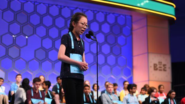 Lauren Guo, 13, of Arvada, competes ...