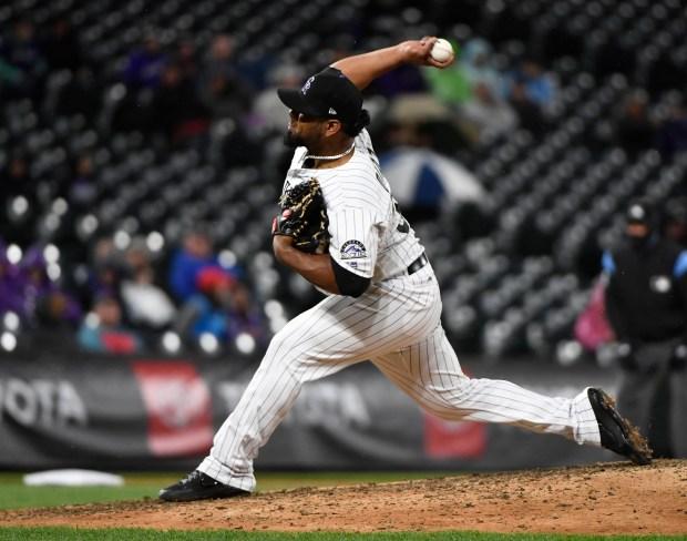 Colorado Rockies relief pitcher Jairo Diaz ...